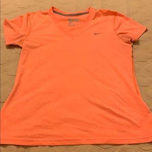 Nike Dri Fit Women's V Neck Short Sleeved Shirt